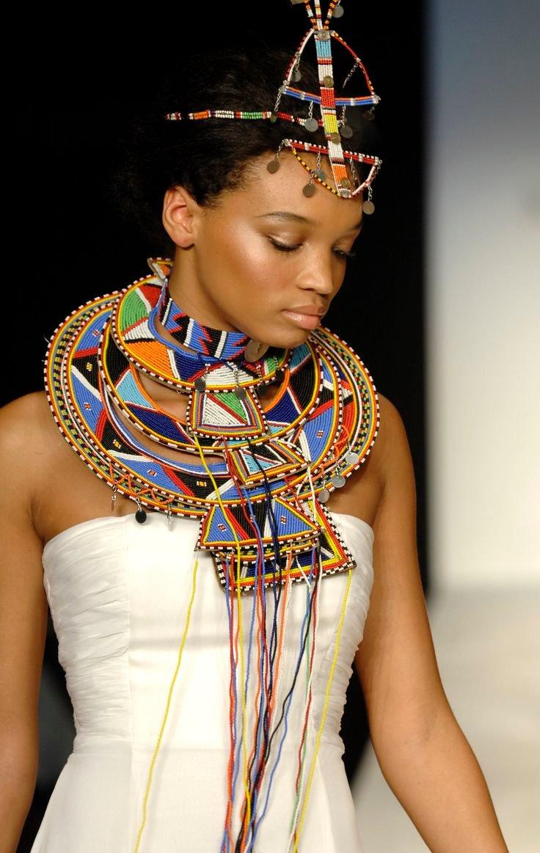 Картинка африканки в бусах