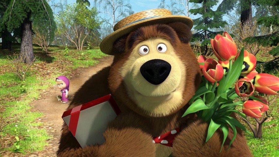Открытки с мультиками маша и медведь