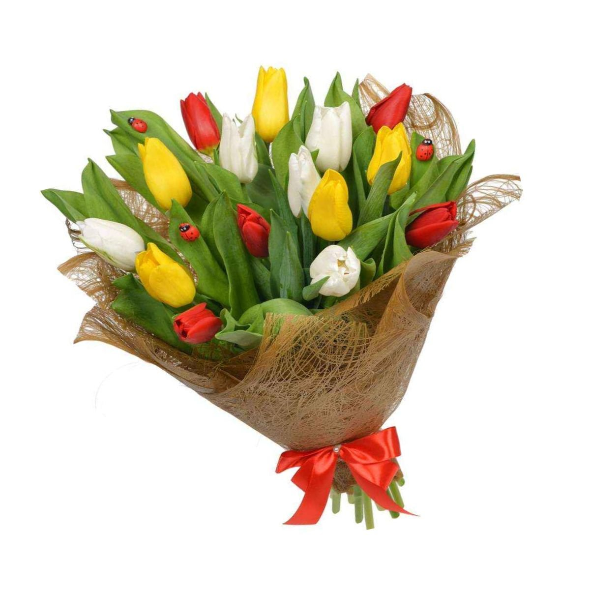 Букеты из слюды и тюльпанов, невесты