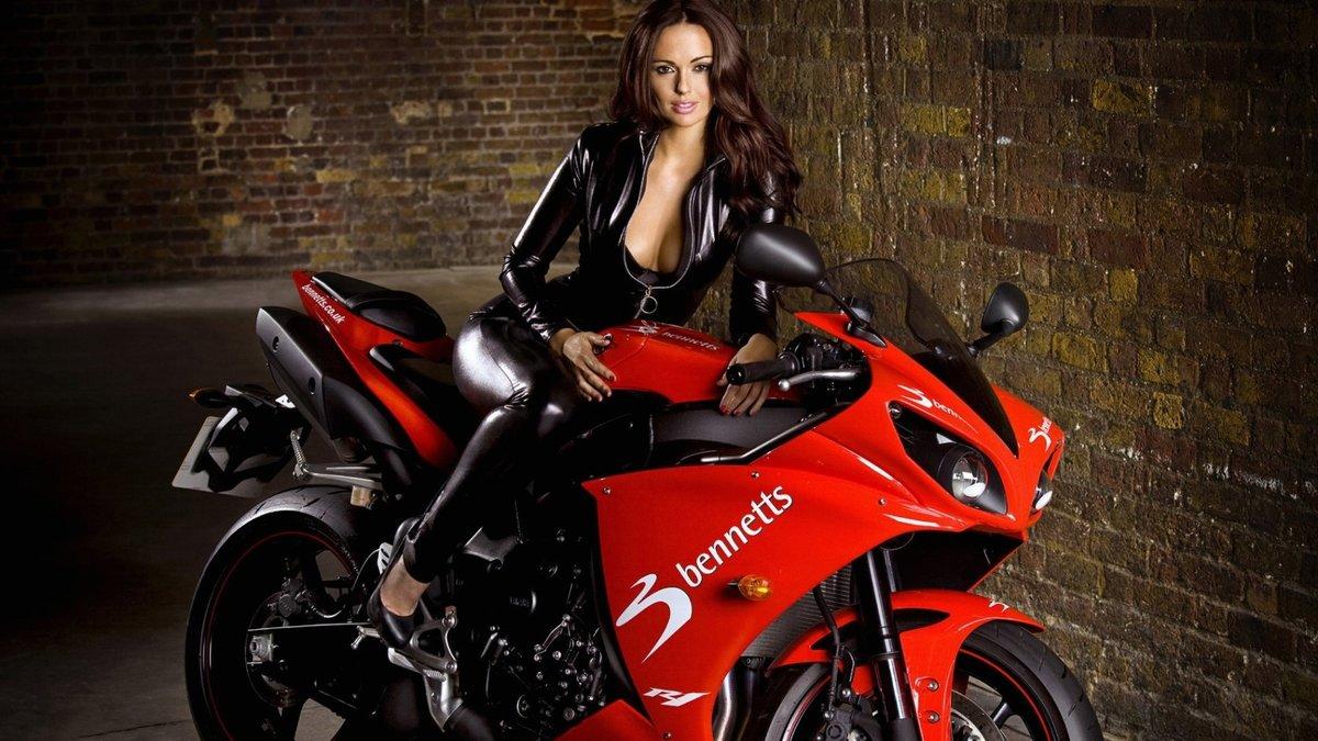 Фото девушек на байках, Прекрасные девушки на шикарных мотоциклах (80 фото) 12 фотография