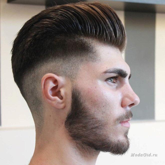 Андеркат мужская стрижка  на гладкие густые волосы