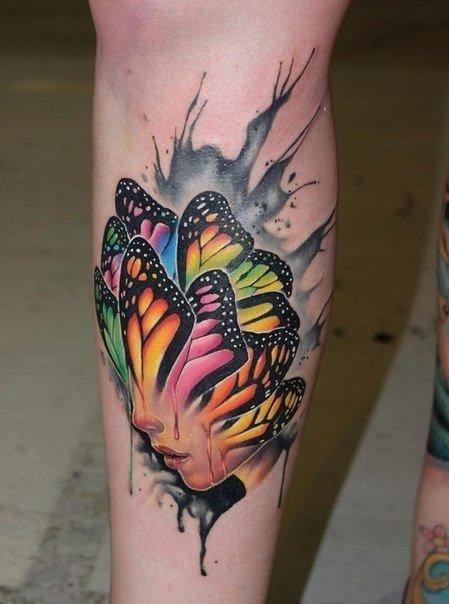 Лицо + бабочки