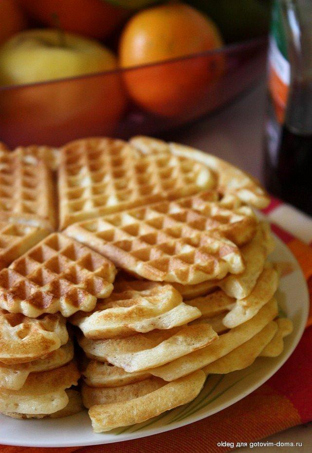рецепт вафель для вафельницы с фото