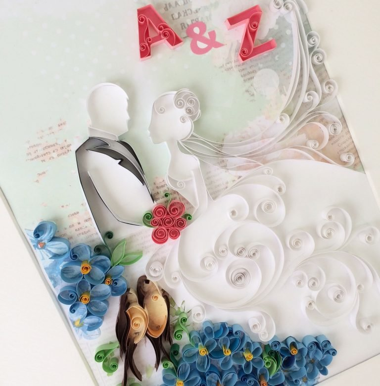 Свадебные аппликации в открытках