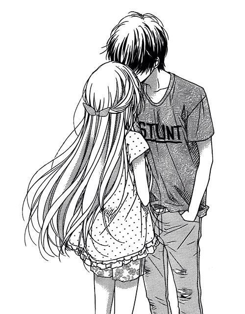 аниме парень и девушка фото