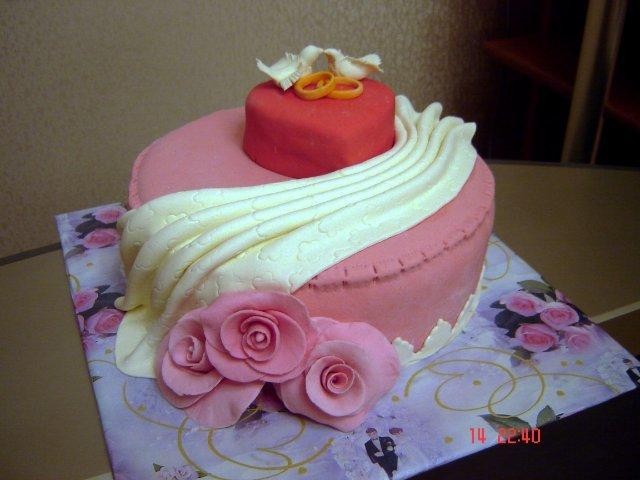 торт на девичник кольца