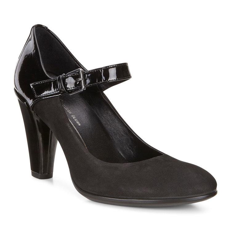 Туфли из замши и кожи на каблуке