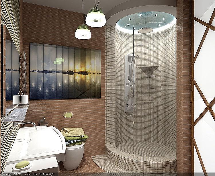 как оформить ванную комнату душевой кабиной собраны квартиры