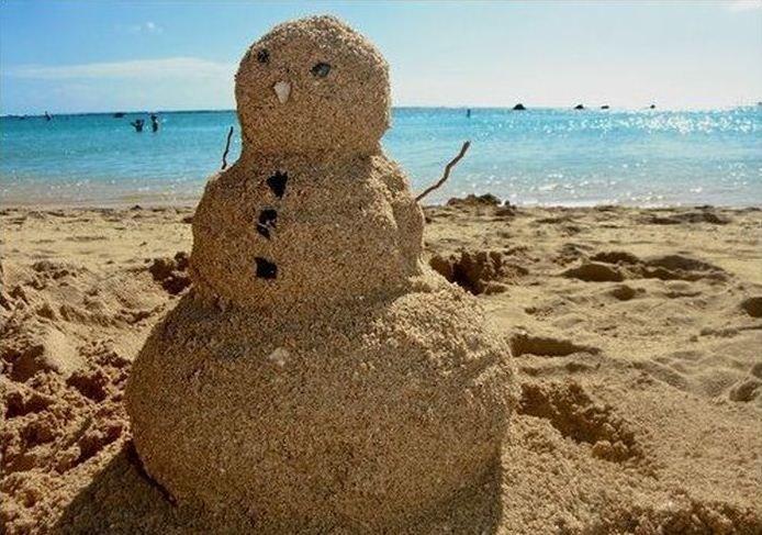 Картинки смешные снеговик летом, для