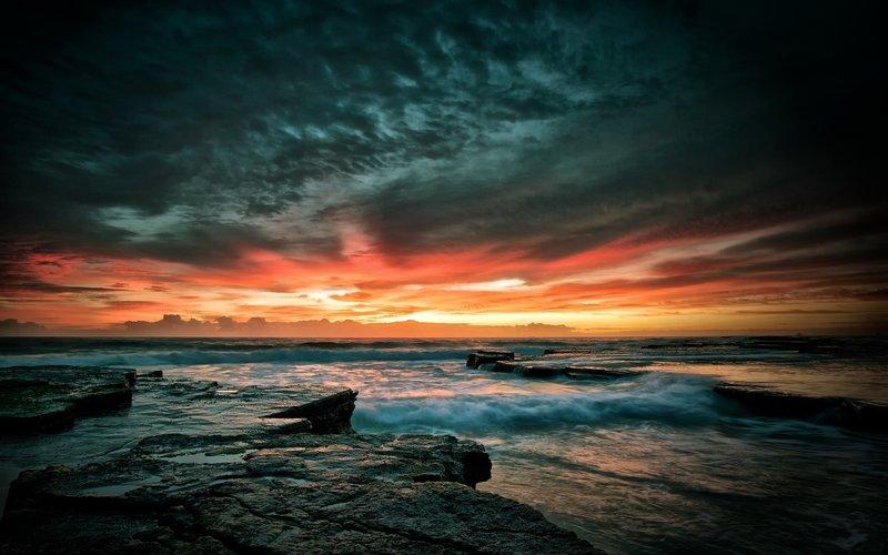 Красивый закат шикарненько