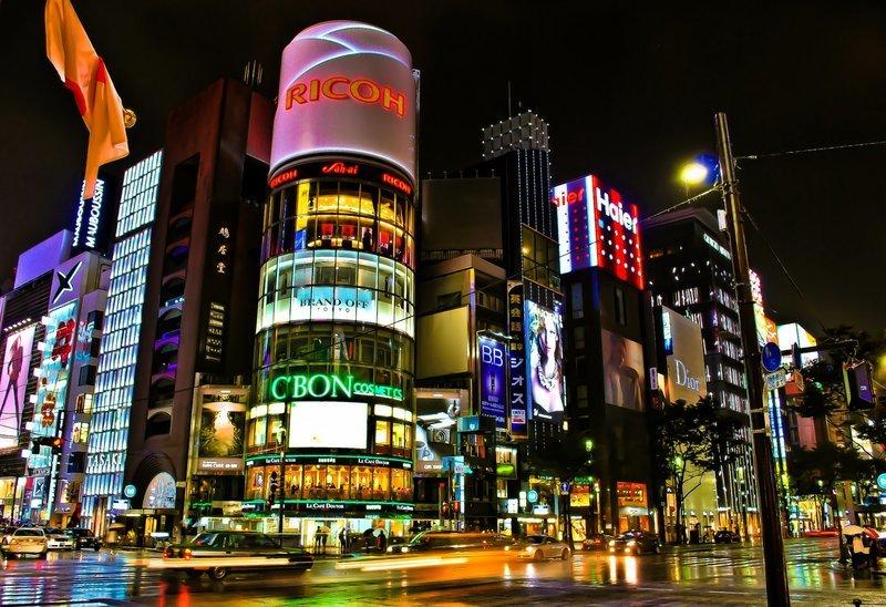 Ночной Токио Обои На Телефон