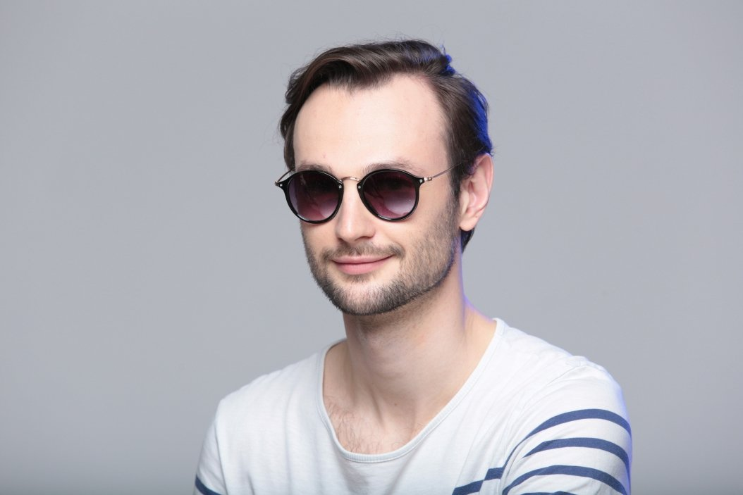9a6d0597489e Мужские круглые солнцезащитные очки LuckyLOOK 2» — картка ...