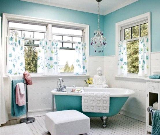 Уютная и красивая ванная комната в стиле шебби шик
