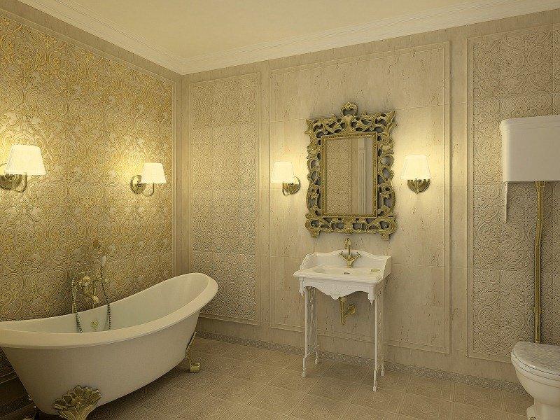 Освещение в ванной комнате играет не только роль подсветки всех предметов сантехники и мебели, но и помогает создавать эксклюзивный интерьер