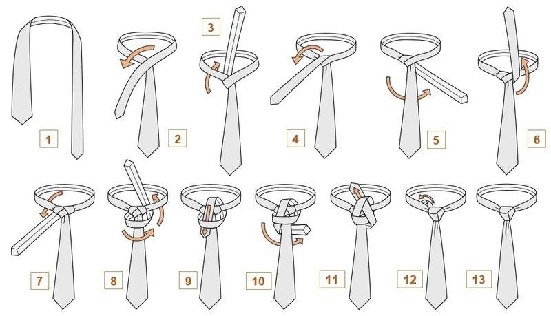 Как завязывать галстук инструкция подробная