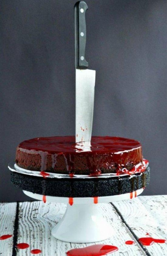 Рецепт на Хэллоуин «Кровавый чизкейк»