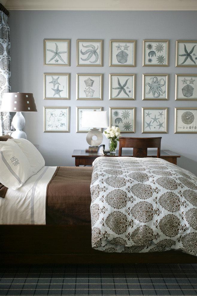 Выбираем оригинальный абажур с рисунком Настольная лампа с принтом в интерьере спальни