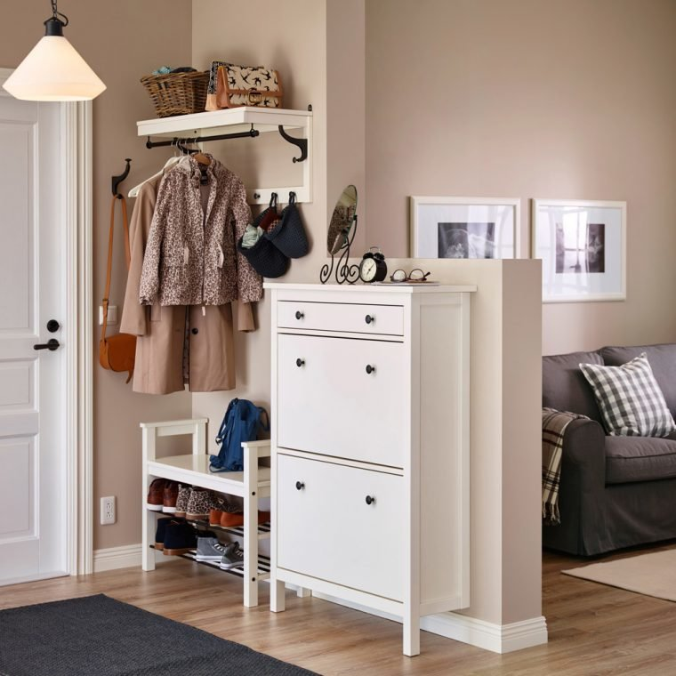 Прихожая шкафы в скандинавском стиле