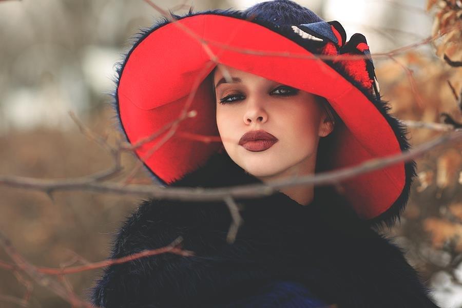 Бумажной, картинки дама в шляпе зимой
