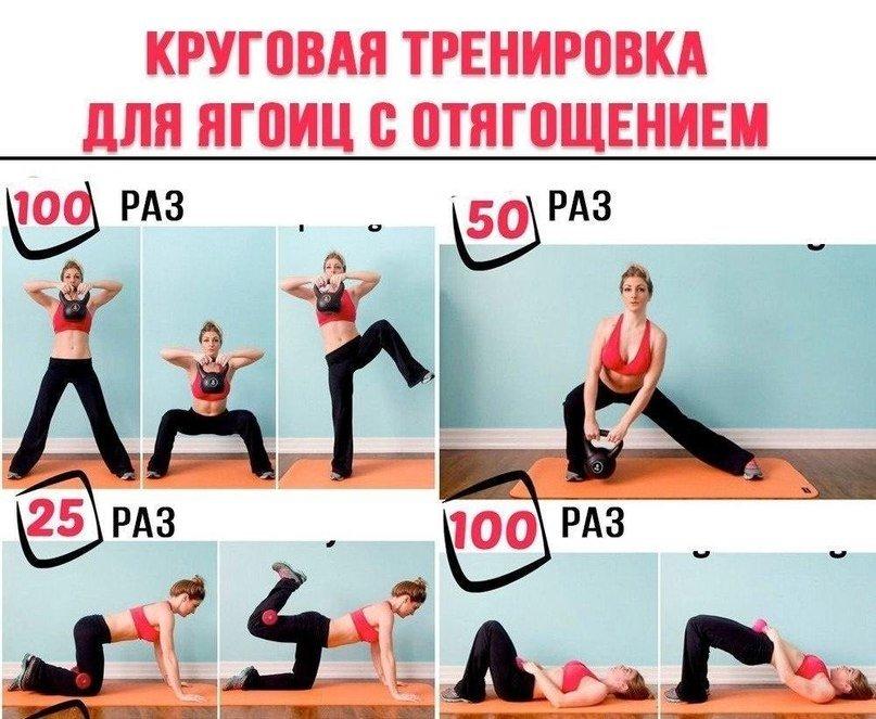 Круговая тренировка для девушек картинки