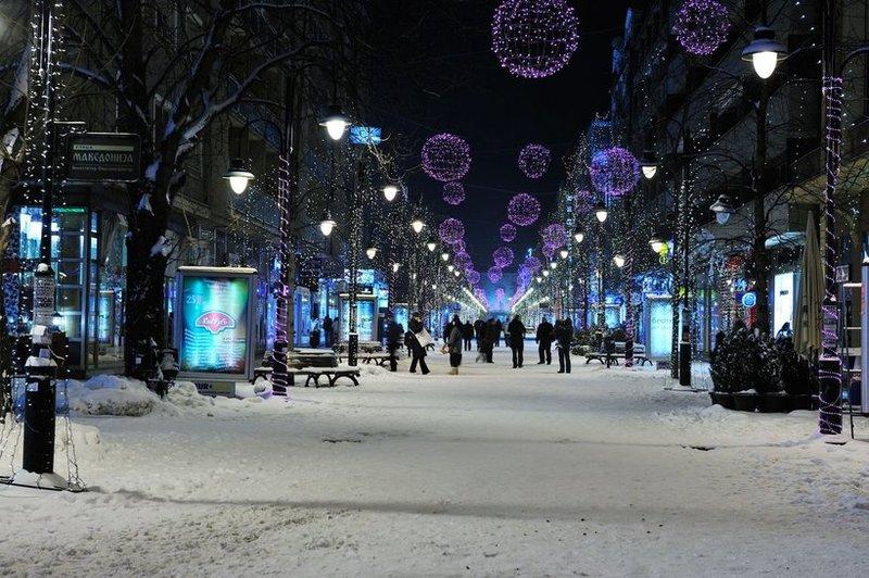 Скопье зимой
