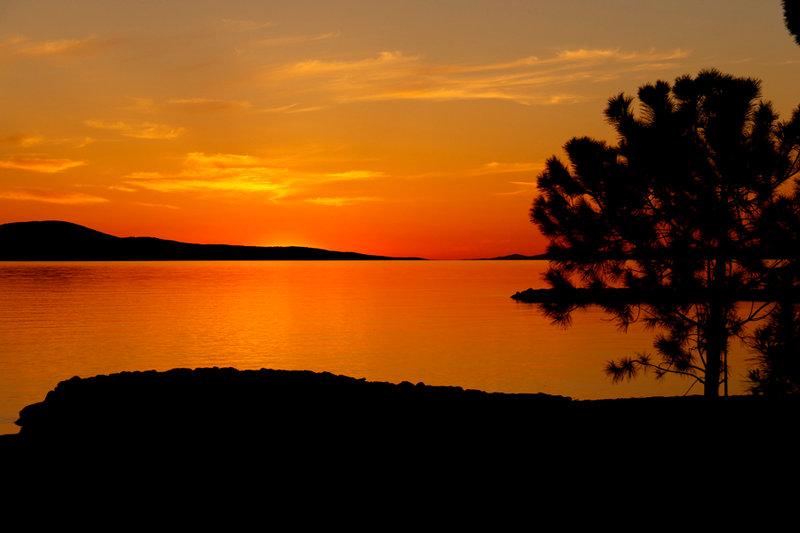 Закат солнца в Хорватии