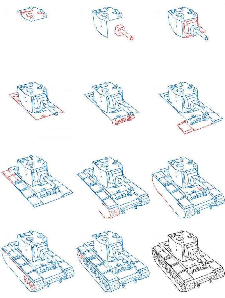 Смотреть картинки как рисуют танки