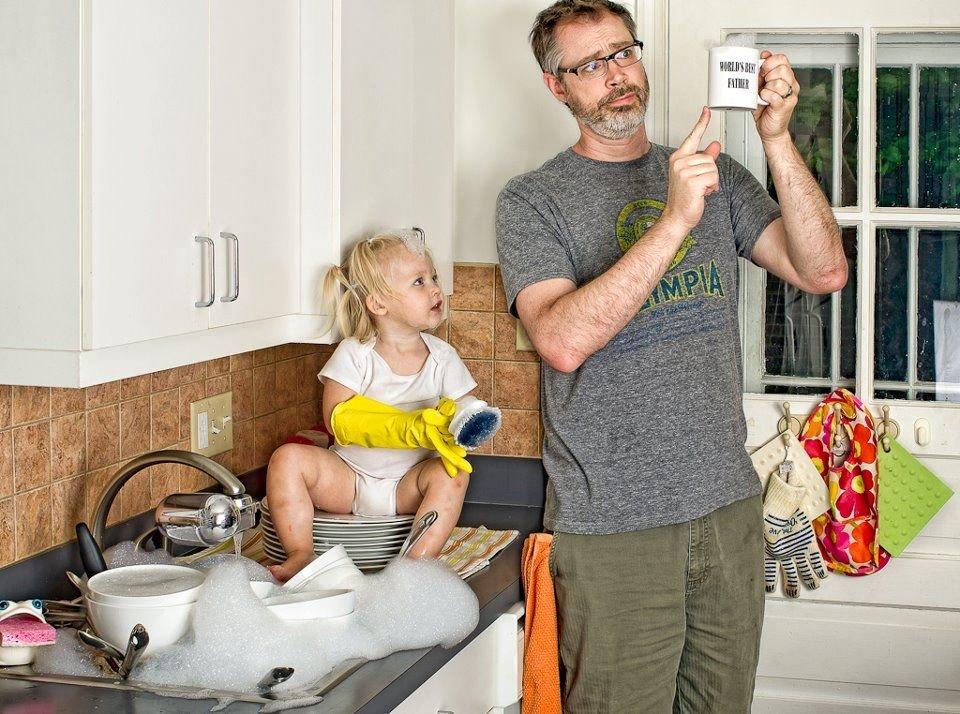 Открытке марта, смешные картинки дети и отцы