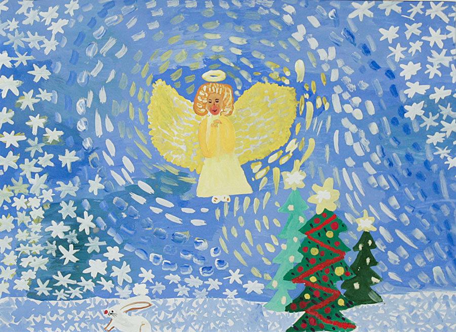 Детские конкурсы рождественских открыток