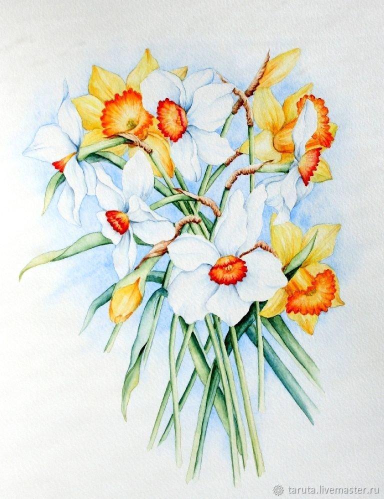 рисуем цветы акварелью картинки воротами можно