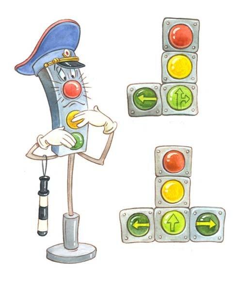 Клеточкам тетради, картинки смешного светофора для детей