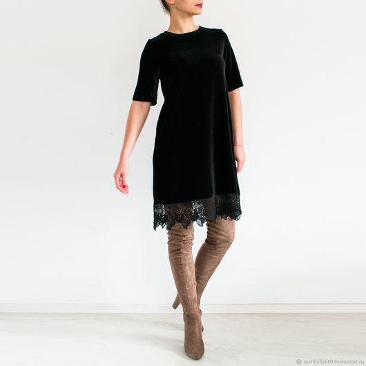 fb9789f9181 ... Купить или заказать Мини платье Чёрное модное платье Красивое платье  Черное кружево в интернет магазине на
