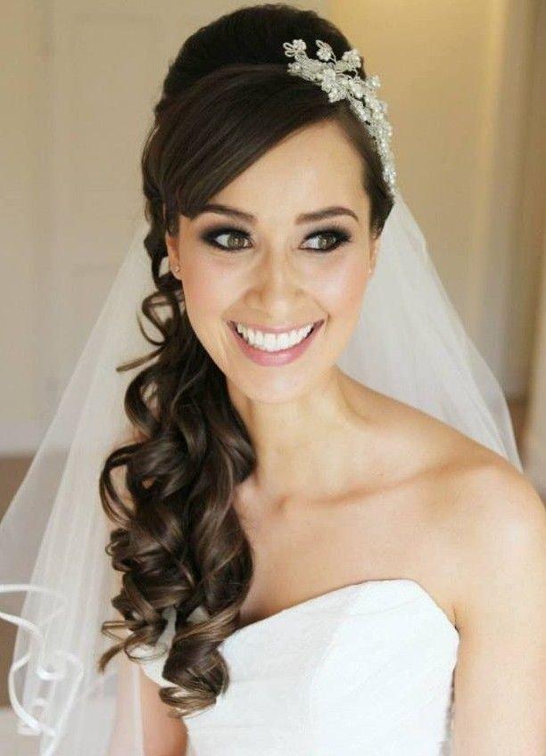 Свадебные прически с диадемой и фатой - Лучший прически и