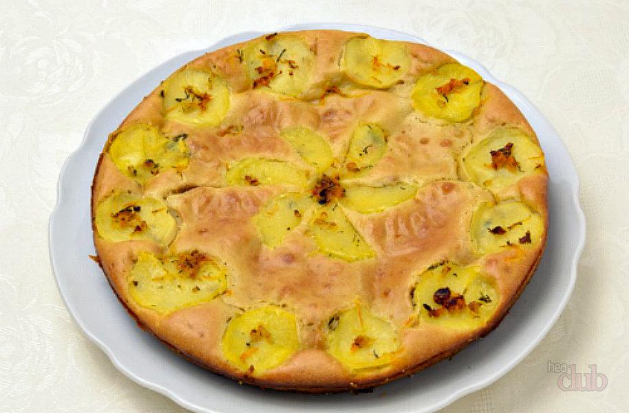 Заливной пирог с картошкой без кефира