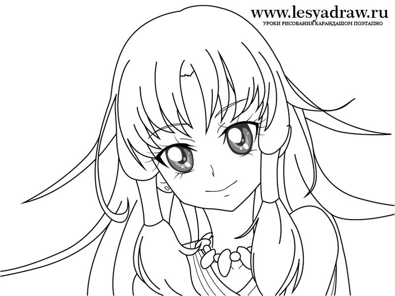 Как нарисовать аниме девушку карандашом поэтапно