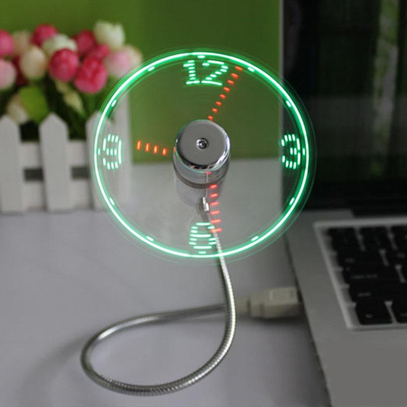usb вентилятор часы оптом - Купить оптом usb вентилятор часы из ... Мини Регулируемая Гибкая время светодиодные часы usb-вентилятор со  светодиодной подсветкой прикольный гаджет USB часы