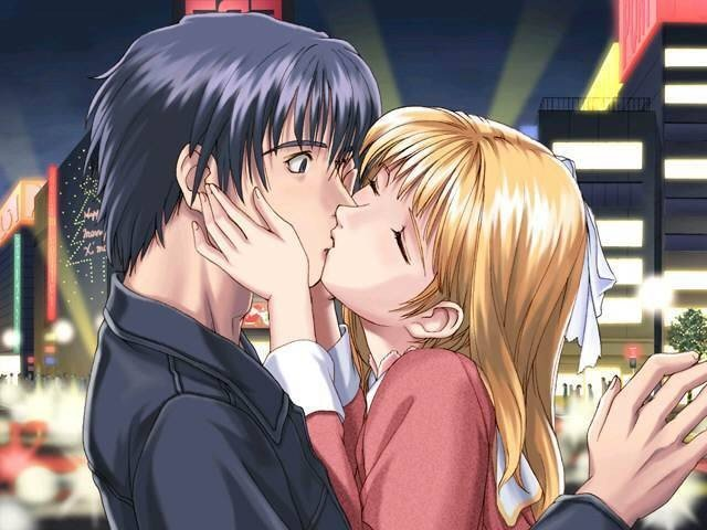 Картинки неожиданный поцелуй