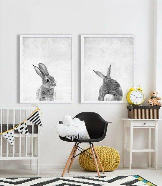 Интерьер детской в стиле минимализм.
