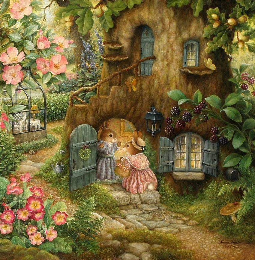 Открытки волшебный сад, днем