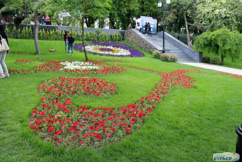 Ландшафтный дизайн Стамбульского парка.