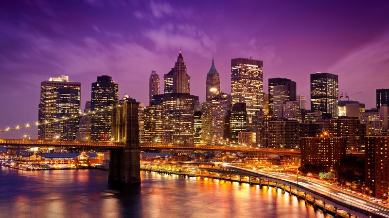 ночь мост город