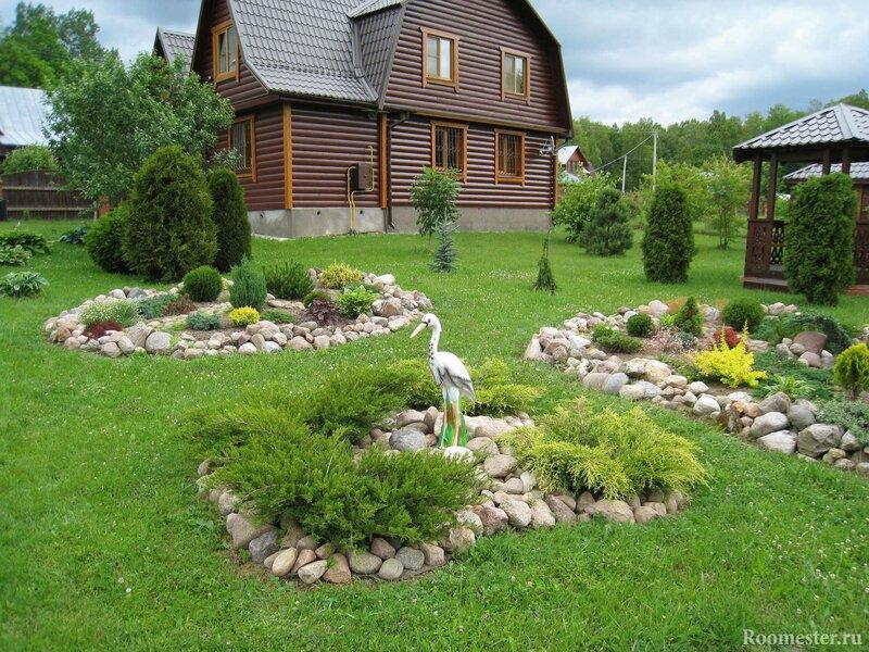 ландшафтный дизайн дачного участка  для отдыха всей семьей.