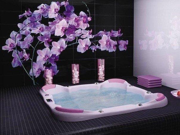 принт в ванную в японском стиле