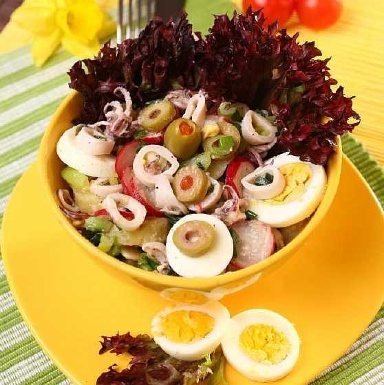 Рецепты салатов с рисом