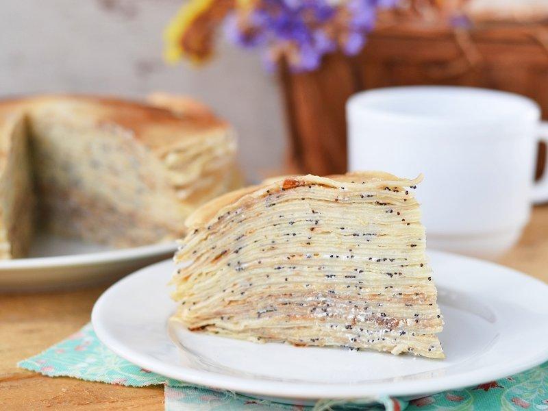 хотите торт из блинов пошаговый рецепт с фото есть кафешка
