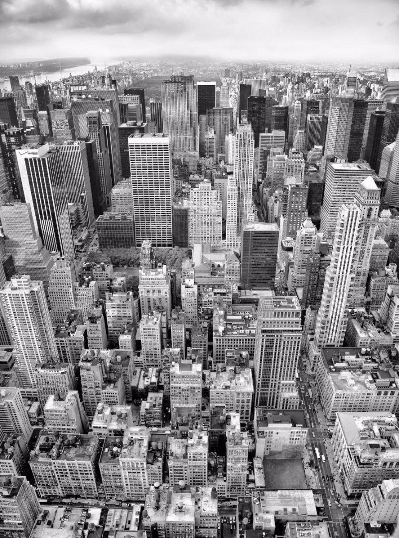 Черно-белые картинки с городами