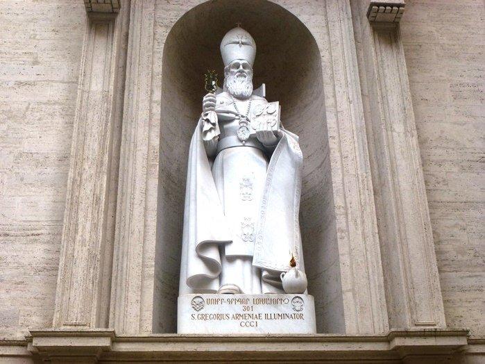 Image result for Памятник Григорию Просветителю (Ватикан)