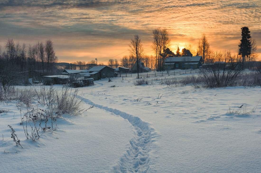 картинки зимнего утра в деревне блэкаут исполнены специального