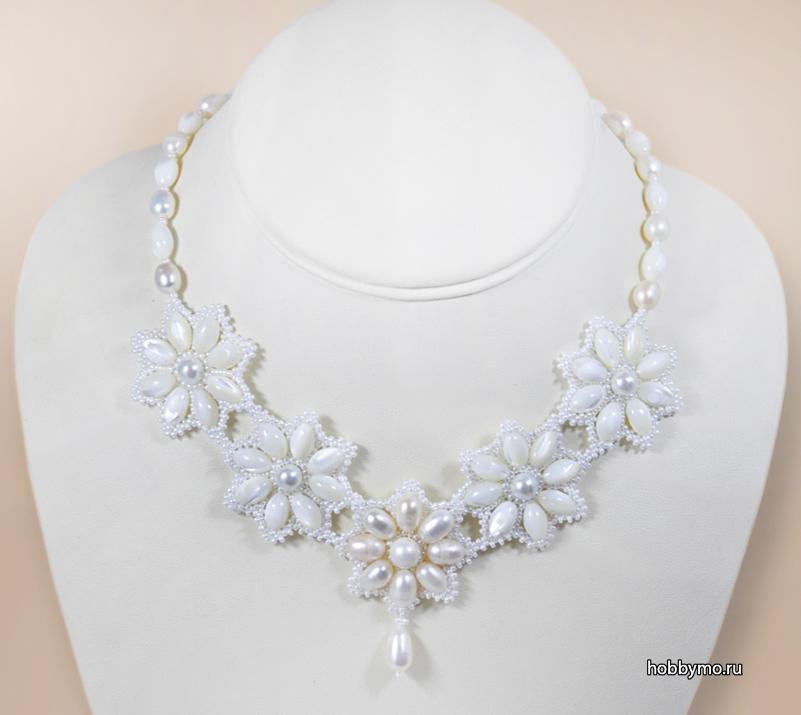 Ожерелья из жемчуга своими руками