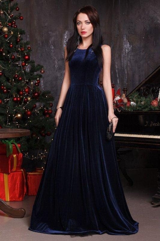 2bd1d2221e68aa4 Платье бархатное в пол без рукавов Платье бархатное в пол без рукавов